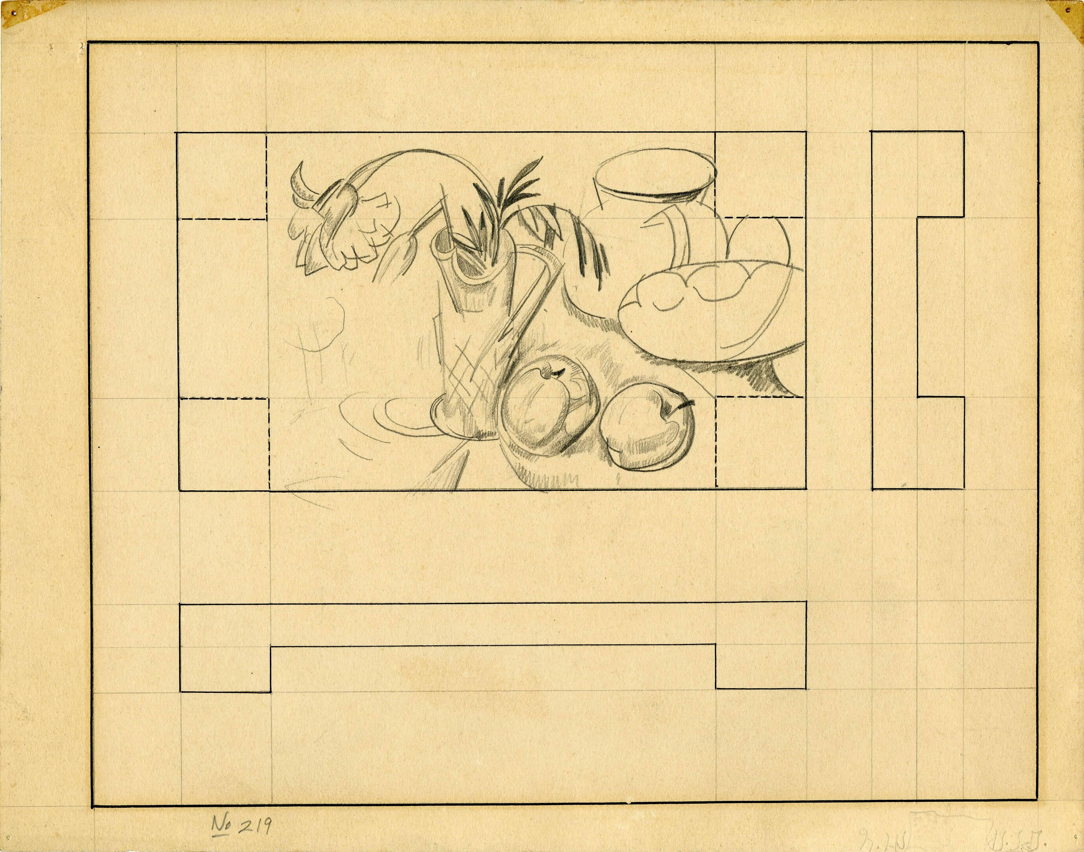 untitled (Still Life with Apples and Vase of Flowers)