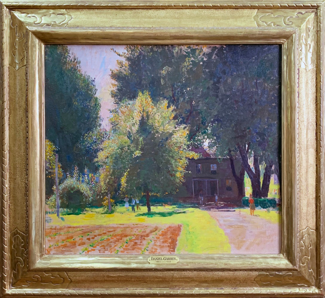 Dead End, New Hope School American Impressionist Landscape with House, Framed