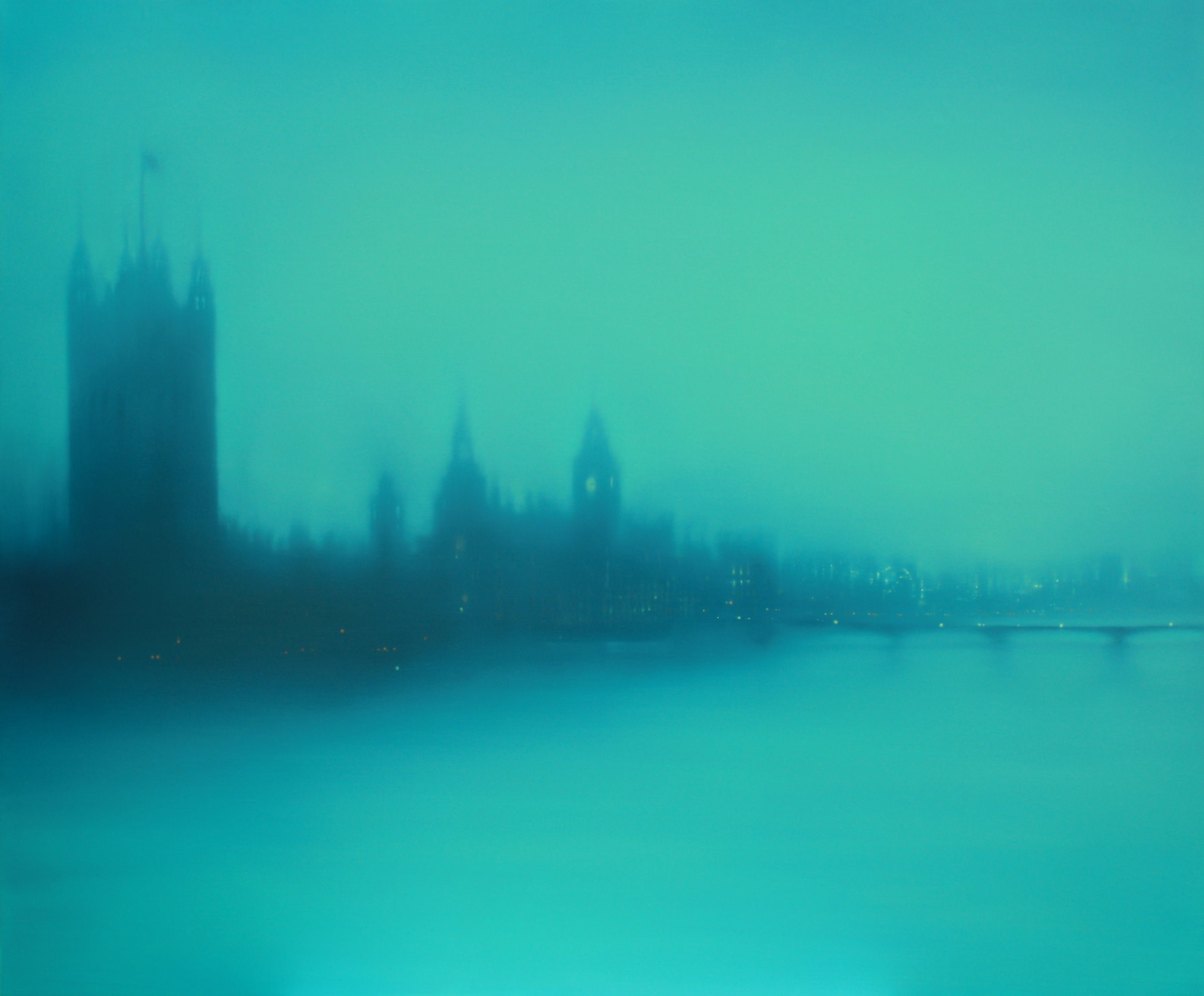 Emerald Westminster (London) Jenny Pockley. Original cityscape oil painting.
