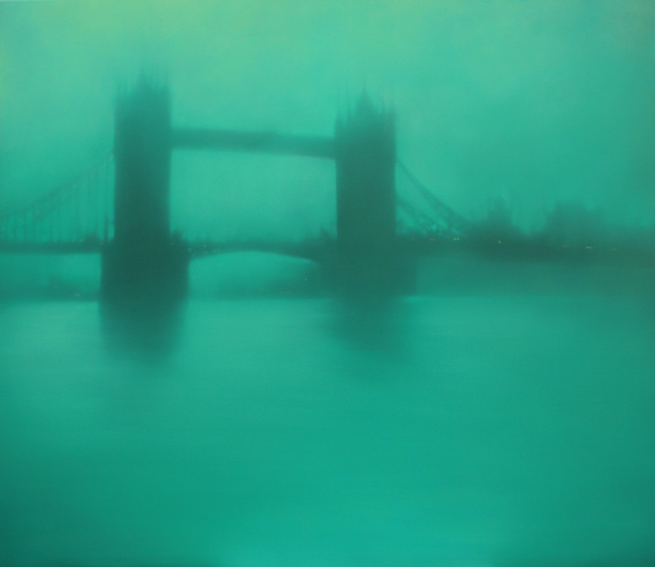 Turquoise Tower Bridge (London) Jenny Pockley Original cityscape oil painting.