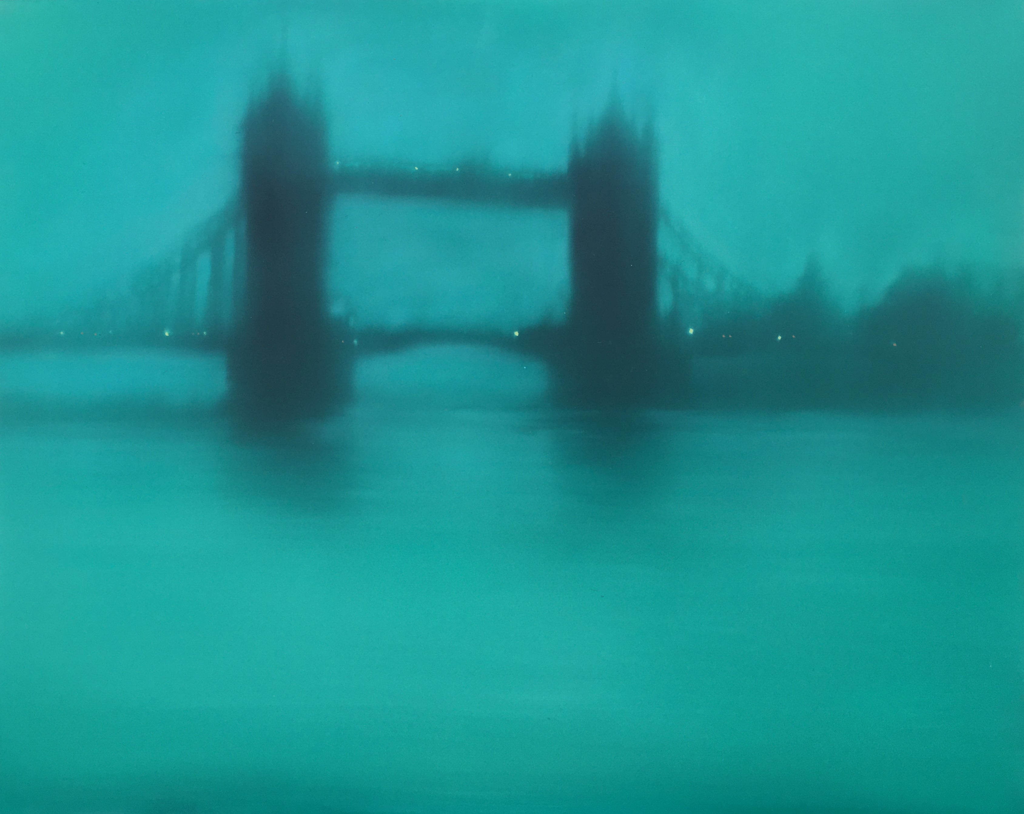 Turquoise Tower Bridge (London) Jenny Pockley Oil painting/study.