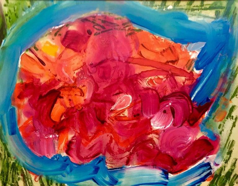 "Dina Gustin Baker Abstract Painting - ""Red Fish"""