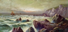 """Sailboats off the Rocky Coast"""