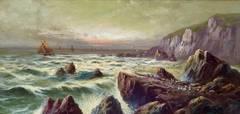 """""""Sailboats off the Rocky Coast"""""""