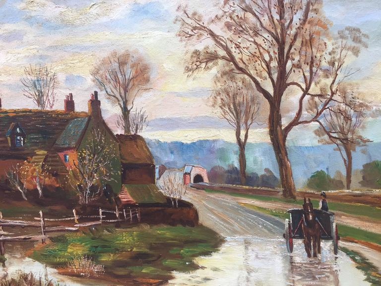 "Arthur D'Artois Landscape Painting - ""English Countryside"""