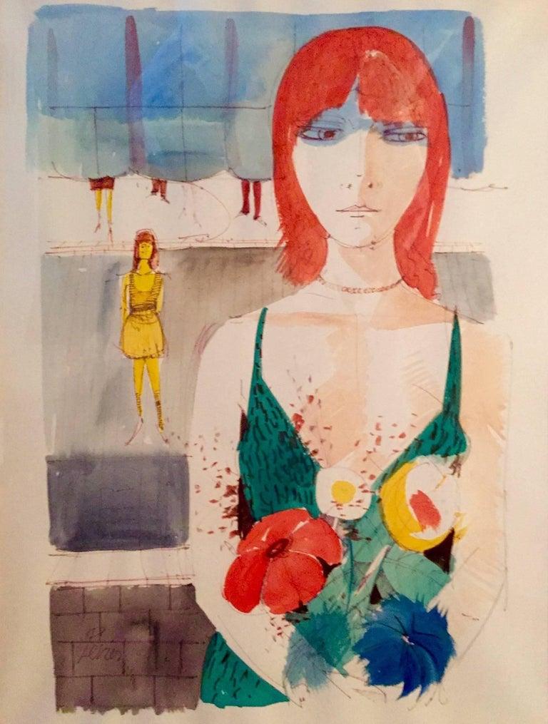 """Charles Levier Figurative Art - """"Les Jeunes Filles"""""""