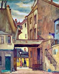 """""""View in the Court of Rue Du' Jardinet"""""""