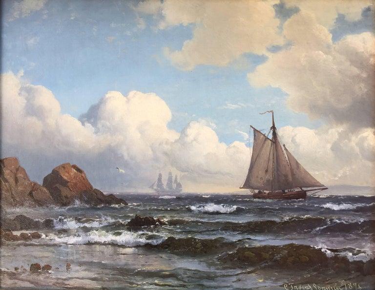 "Carl Frederik Sørensen Landscape Painting - ""Ved Kullen"""