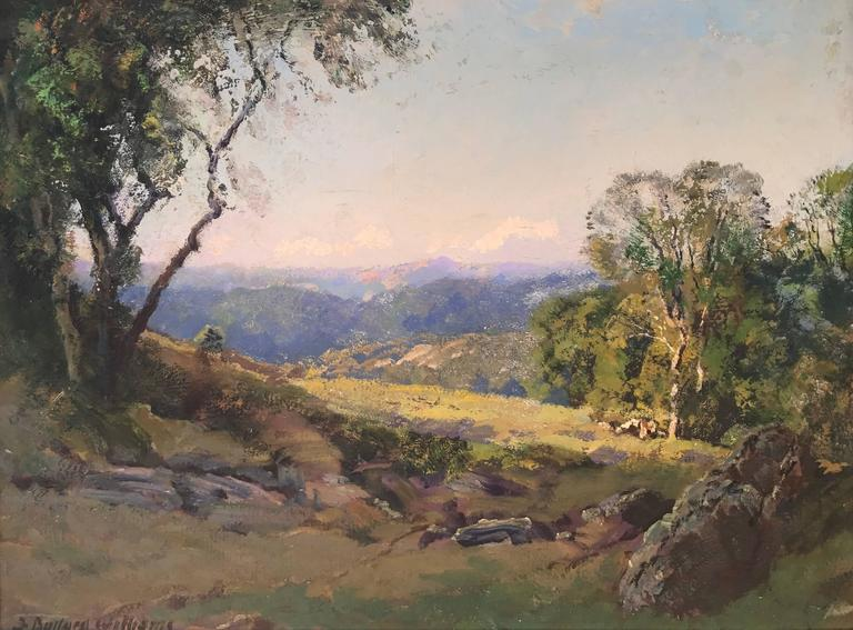 """Frederick Ballard Williams Landscape Painting - """"Late in the Day"""""""