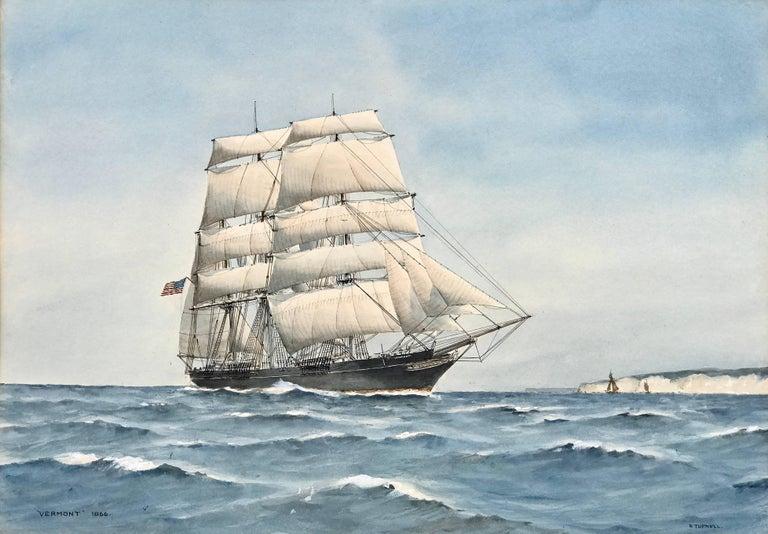 "Eric Erskine Campbell Tufnell Interior Art - ""USS Vermont"""