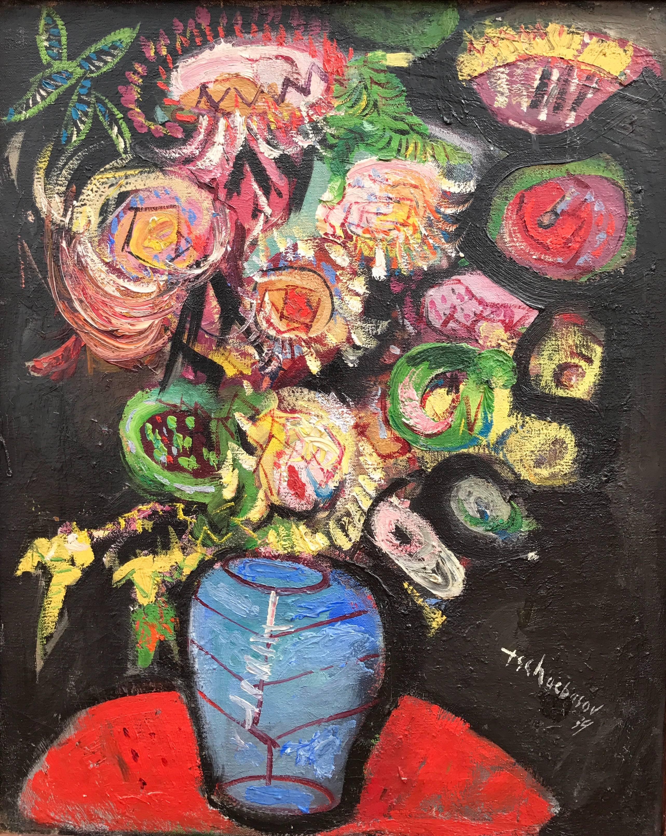 """Bouquet in Blue Vase"""