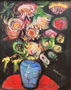 """Bouquet in Blue Vase"""