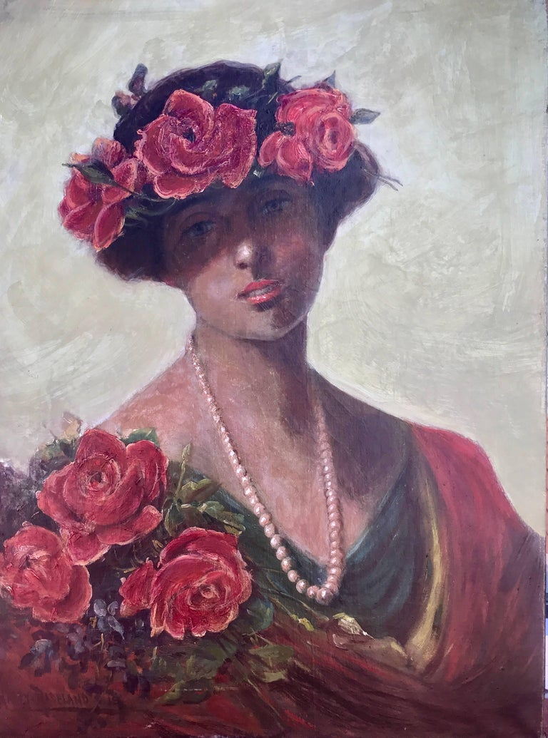 """Beauty with Red Roses"""