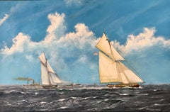 "Frederick Tordoff - ""American Cup Race 1885"""