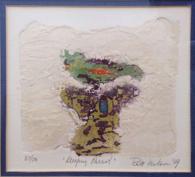 Ruth Kerkovius Animal Print - Sleeping Parrot