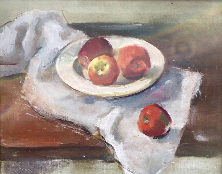 "Ben Benn Still-Life Painting - ""Sill Life with Apples"""