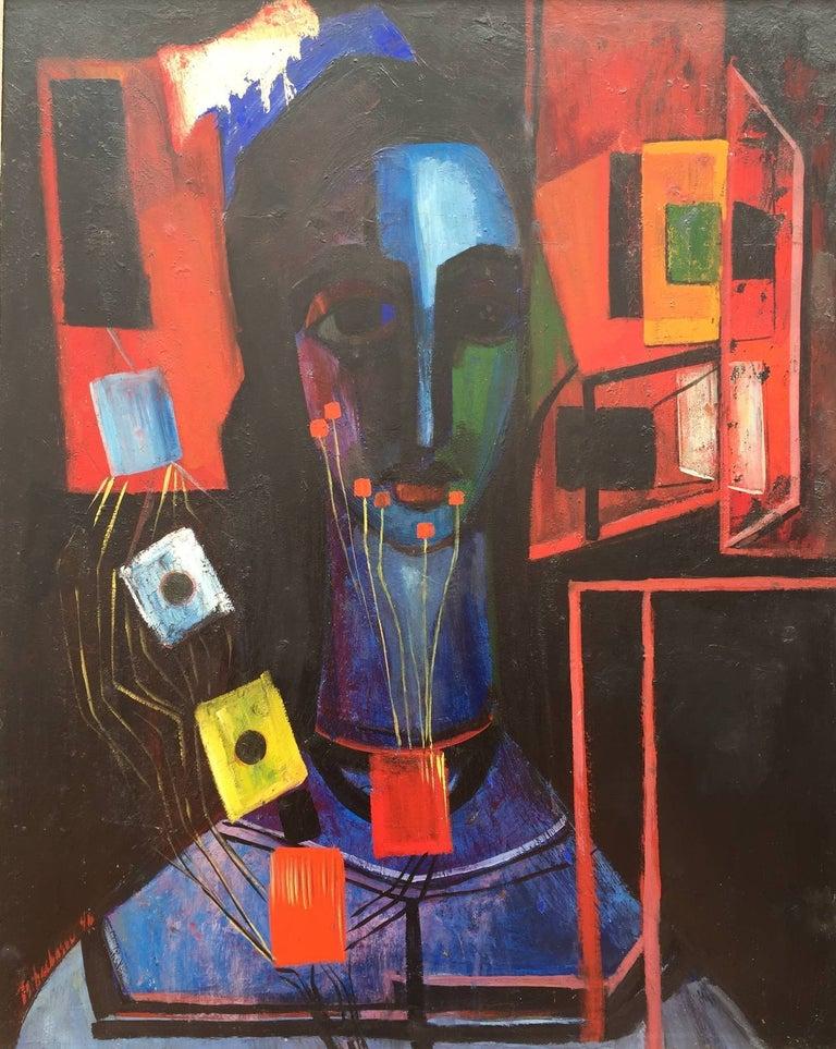 "Nahum Tschacbasov Figurative Painting - ""Mystic Woman"""