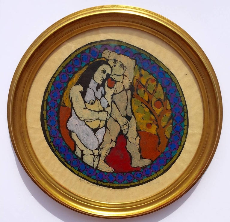 """""""Adam and Eve"""" - Print by Penelope Bennett"""