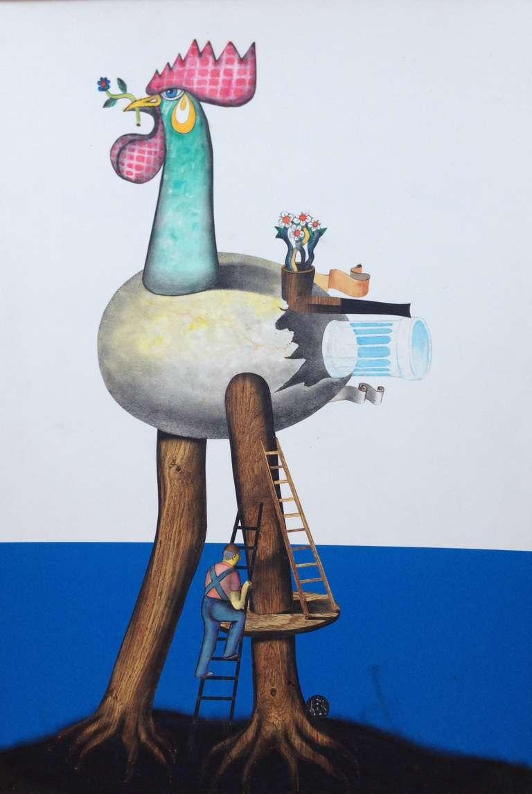"""Carlos Kis Animal Print - """"Galo de Escalada"""""""