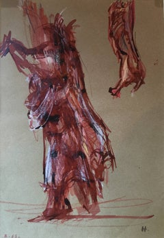 """Figure Study in Red"""