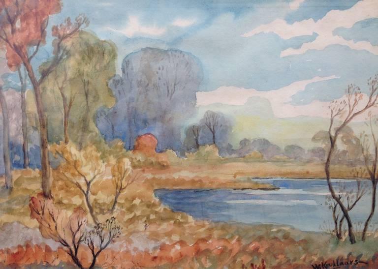 "William John Krullaars Landscape Painting - ""Autumn Colors"""
