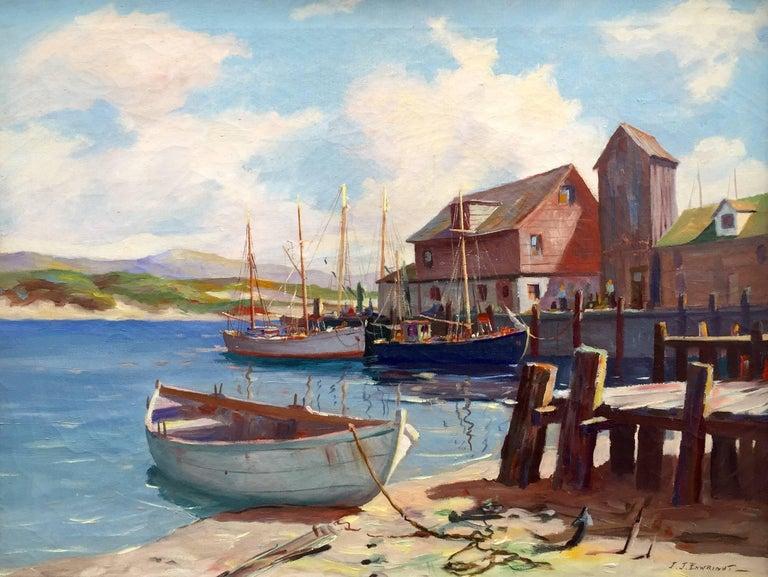 """C. Hjalmar Amundsen Landscape Painting - """"Cape Anne Harbor"""""""