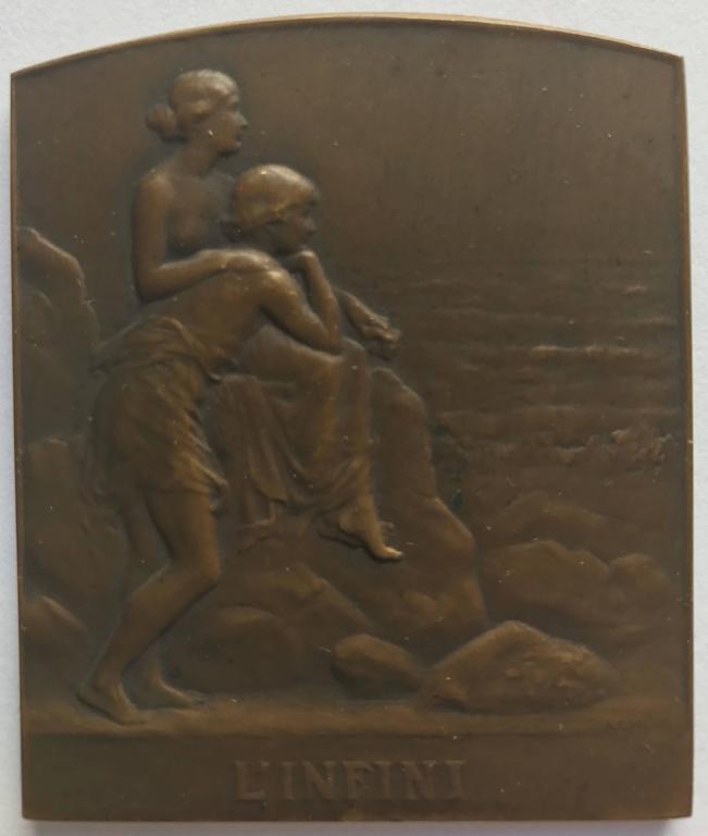 """Pierre Charles Lenoir Figurative Sculpture - """"L'Infini"""""""