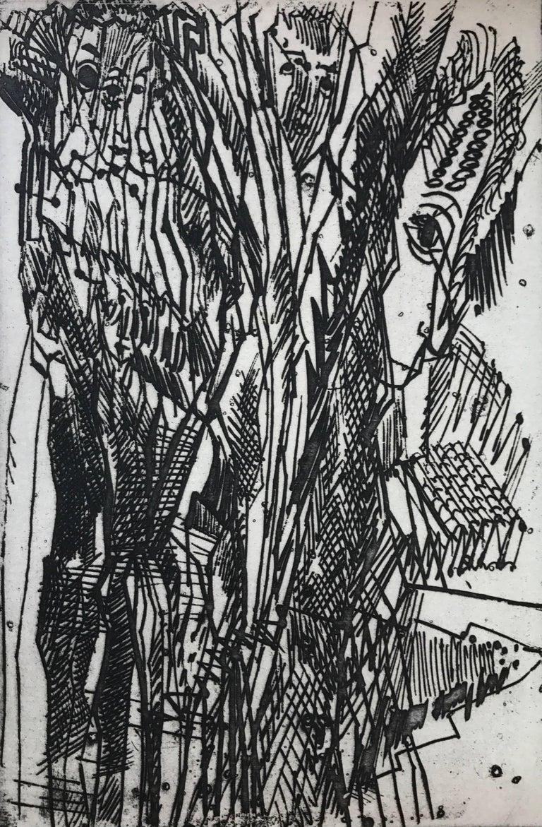 "Nahum Tschacbasov Figurative Print - ""Untitled"""