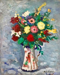 """Bouquet in Porcelain Pitcher"""