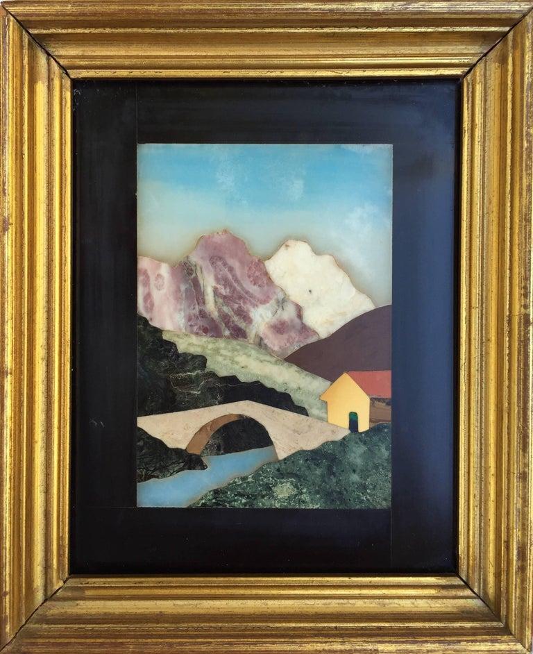"Unknown Landscape Painting - ""Florentine Hillside Cottage"""