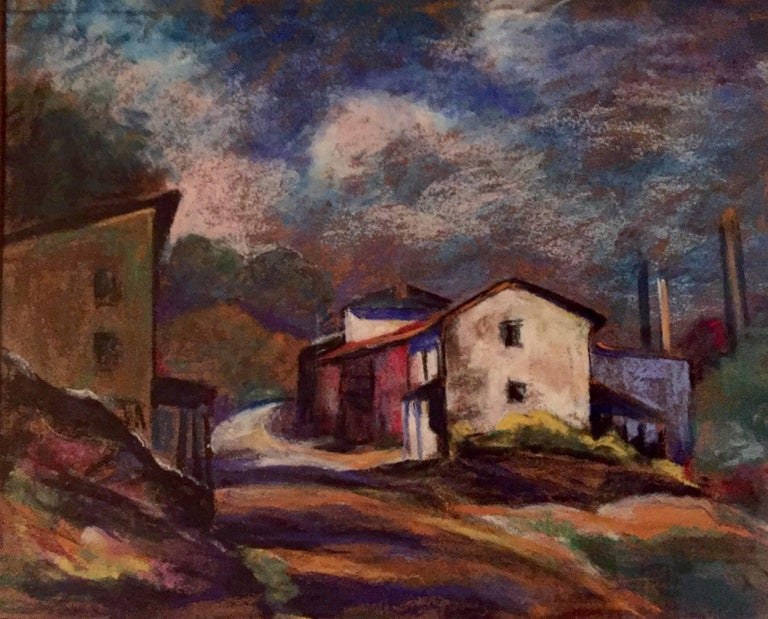 Here for your consideration is a very well executed pastel on paper by John Fabian Carlson. Signed lower right and mostly likely done in the 1930's.  Woodstock, New York was a favorite area for Carlson to paint as well as the site for his art school