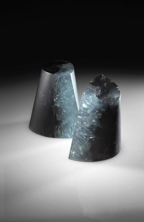 Martine and Jacki Perrin have formed an inseparable artistic duo since 1967. They started working with ceramics while studying calligraphy with Korean master Ung No Lee.  Their interest in glass began in 1995 and this material soon became their