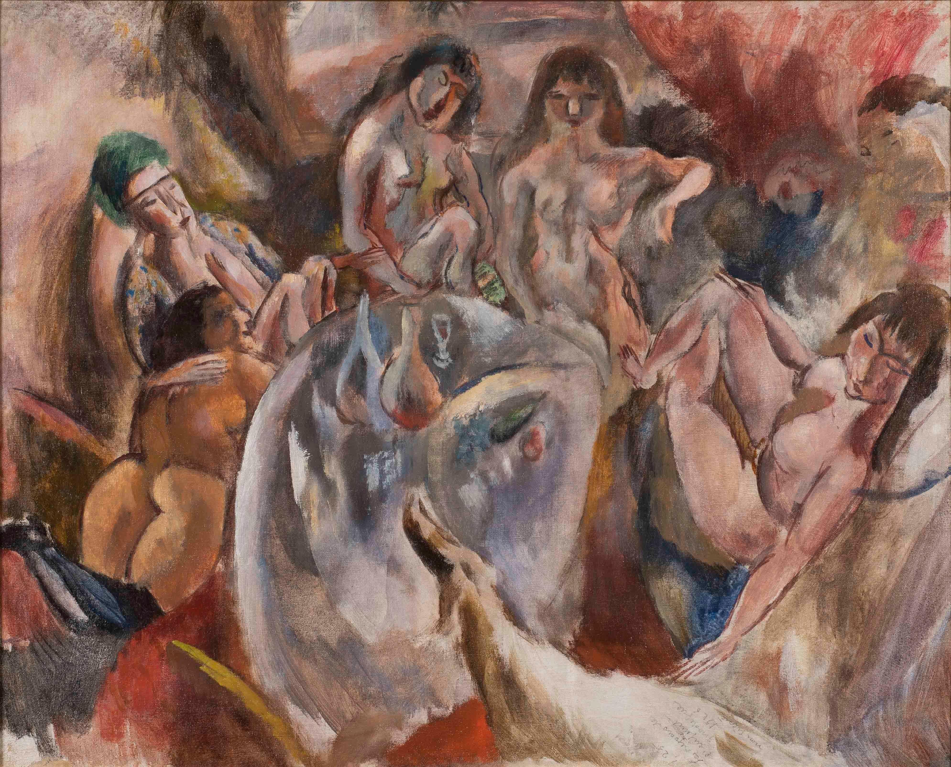 Jules Pascin - L'attente de l'enfant prodigue, nude, figures, painting, women