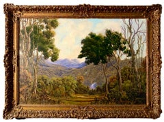 19th century Rainforest Jungle Tropical Landscape Painting Caribbean Asia