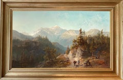 The Rocky Mountains - 19th century American Hudson River School painting