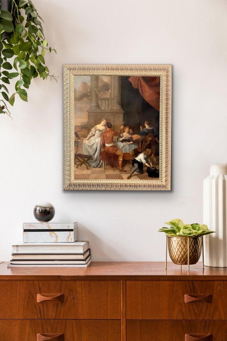 Jan Van Zyl - The Celebration - 17th century dutch elegant company Festive - Painting by Unknown