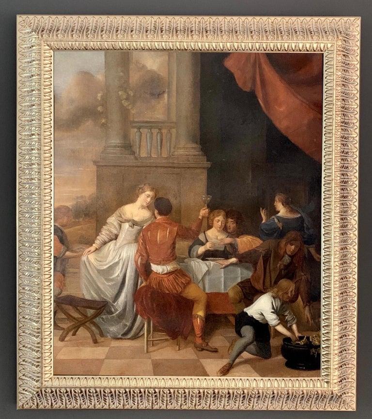 Unknown Interior Painting - Jan Van Zyl - The Celebration - 17th century dutch elegant company Festive