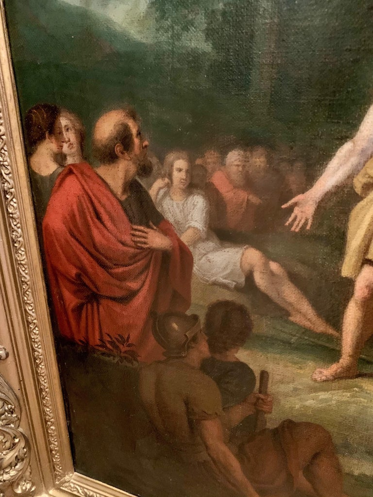 The preaching of John the Baptist - Biblical Religious Painting Neoclassicism For Sale 4