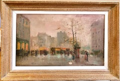 19th century French impressionistic Parisian cityscape
