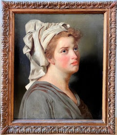 18th century French portrait - Young Woman with a Turban - Female Mythology