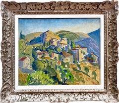 French Impressionist painting - Ecole de Paris - Provence landscape Countryside