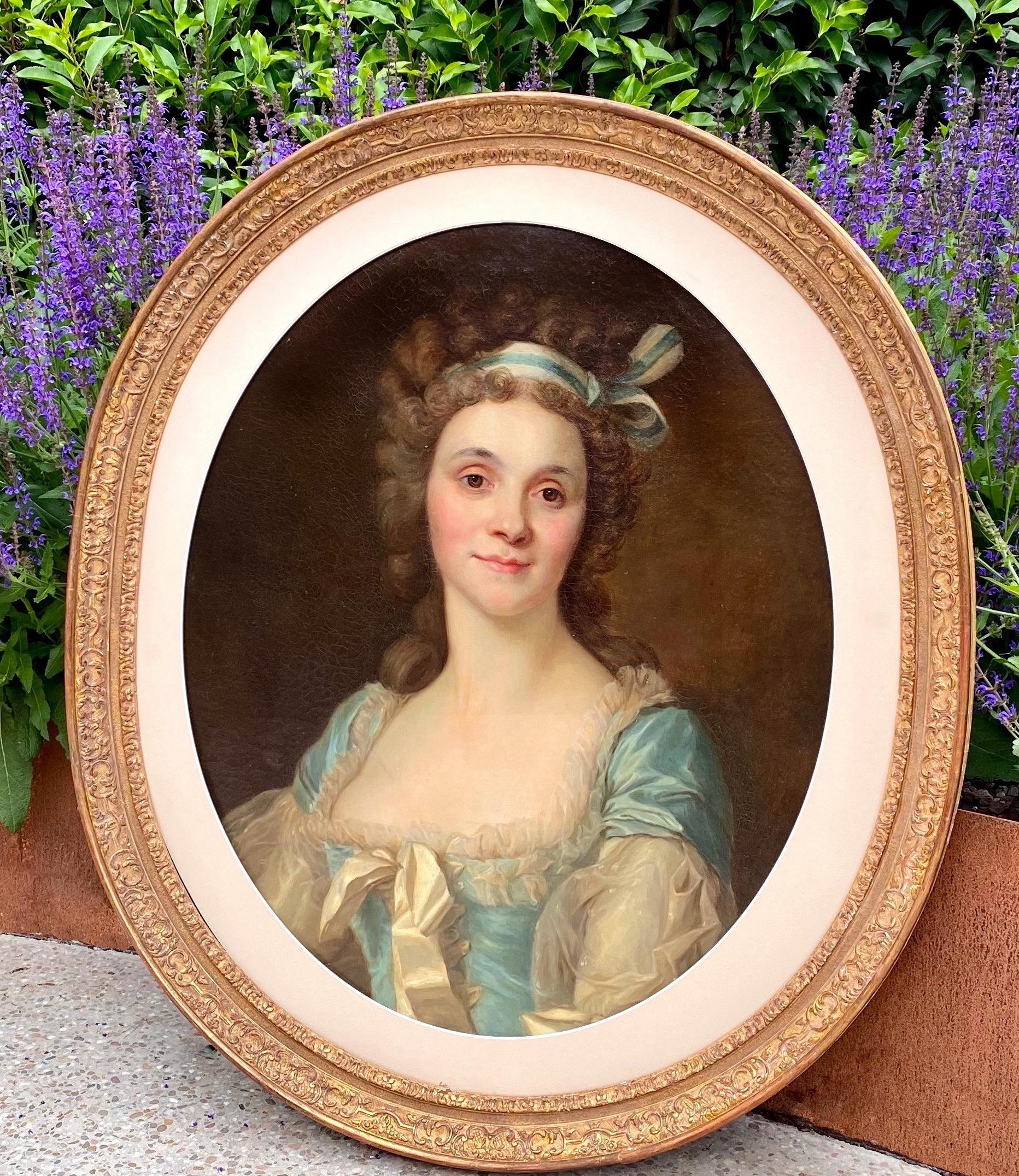 18th century French Rococo Portrait painting of a noble lady - young princess