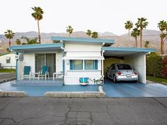 Palm Springs 09 Silver VW, Sahara Mobile Home Park