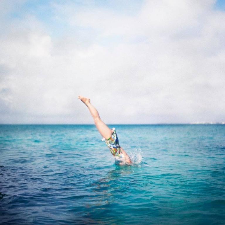 Deep Bay, Self Portrait, North Shore, Bermuda - Photograph by Cig Harvey