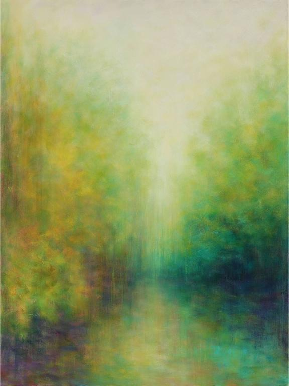 Garden Light (Shanghai) 1 - Painting by Victoria Veedell