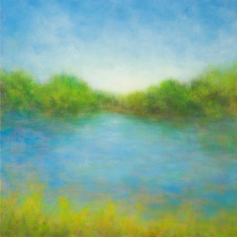 Victoria Veedell Landscape Painting - Summer Ranch Lake