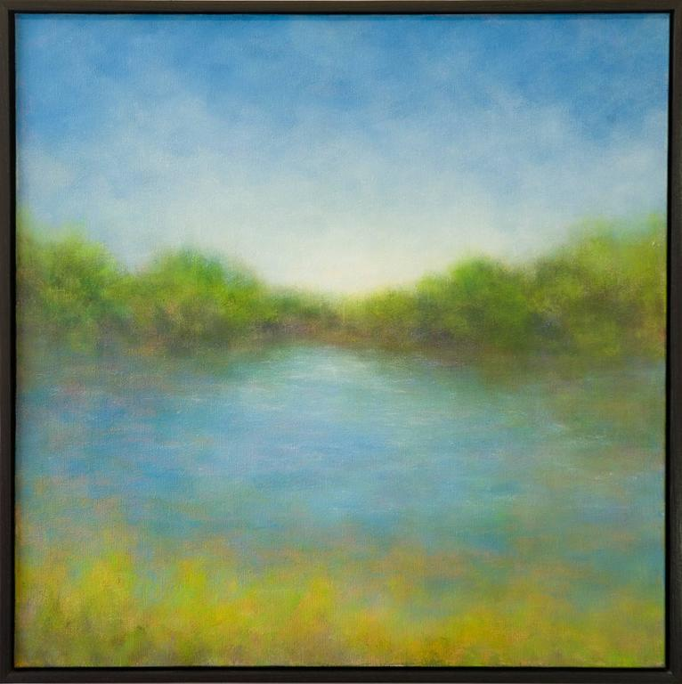 Summer Ranch Lake - Painting by Victoria Veedell