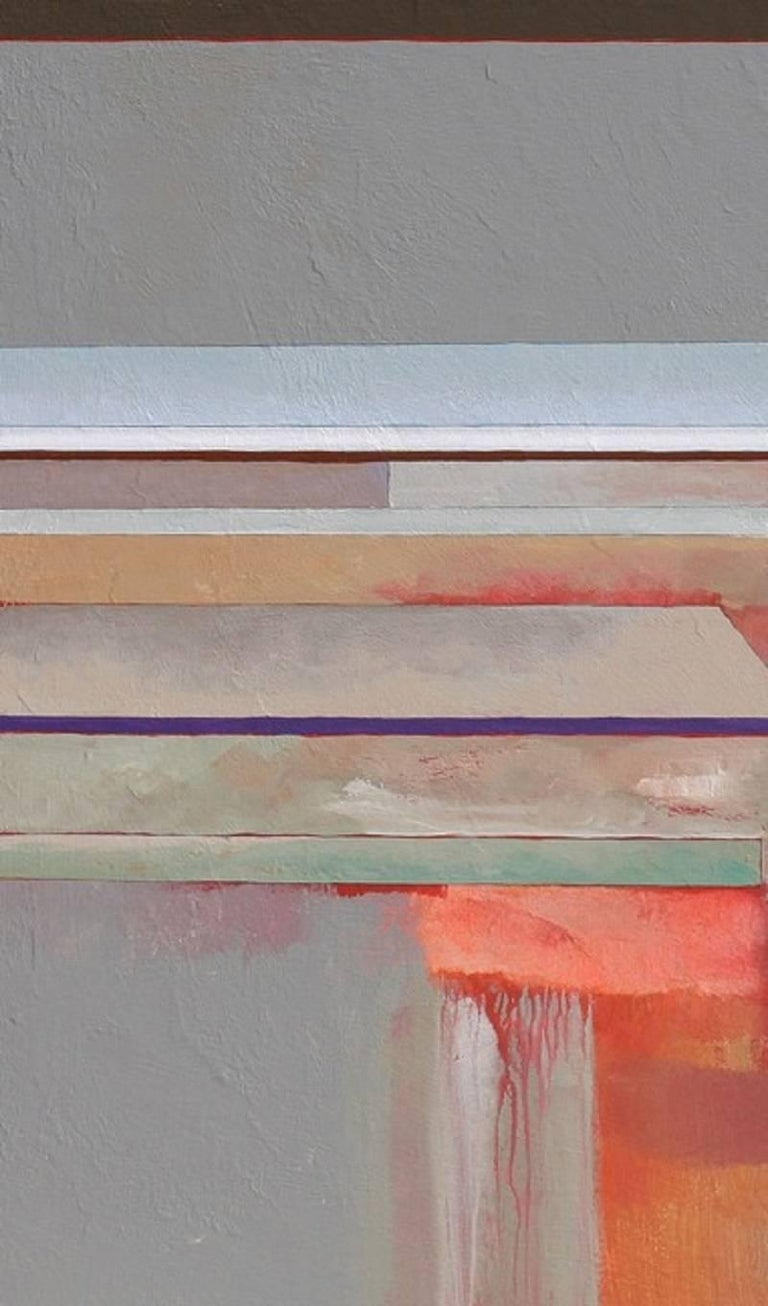 Doing What's Natural - Gray Abstract Painting by Doug Smith