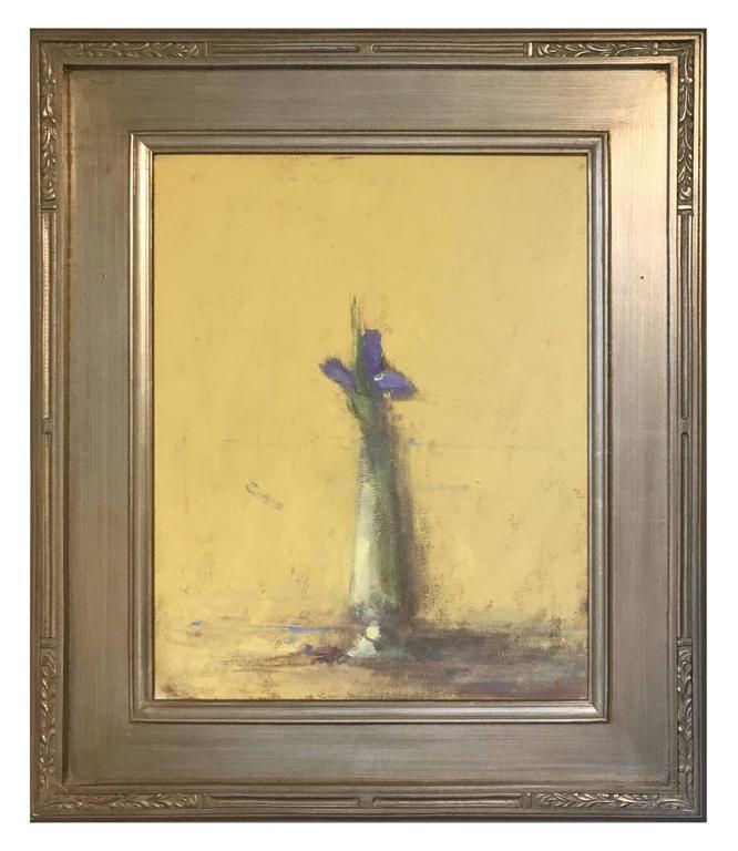 Terry DeLapp Still-Life Painting - Single Purple Iris