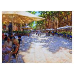 "John Mackie - ""In the shade, Ramblas, Barcelona"""